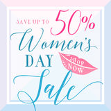 Vector illustration of stylish 8 march womens day sale background Stock Photography