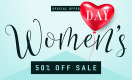 Vector illustration of stylish 8 march womens day sale background Stock Image