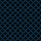 Seamless pattern with abstract leaves stock illustration