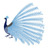 Vector illustration of stylized abstract peacock Royalty Free Stock Photo