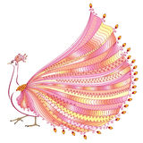 Vector illustration of stylized abstract peacock Royalty Free Stock Photography