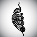 Vector illustration of stylized bird Royalty Free Stock Image