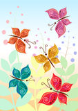 Vector illustration of stylized butterflies Royalty Free Stock Images