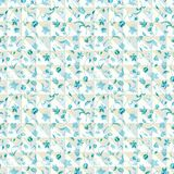 Vector illustration of stylized checkered triangles layered with abstract florals. royalty free illustration