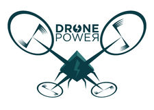 Vector illustration of stylized drone Stock Photo