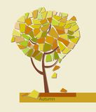Vector illustration of stylized geometric tree Royalty Free Stock Image