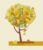 Vector illustration of stylized geometric tree Royalty Free Stock Image