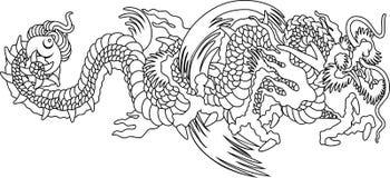 Japan dragon Royalty Free Stock Photos