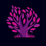 Vector illustration of stylized purple branchy tree. Ecology Stock Photos