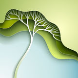 Vector illustration with stylized tree Stock Image