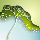 Vector illustration with stylized tree Royalty Free Stock Image
