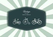 Vector illustration of a stylized vintage bicycle,Vector Royalty Free Stock Photography