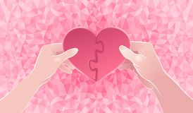 Two Halves Of One Heart Stock Images