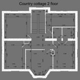 Vector illustration of suburban private house Royalty Free Stock Images