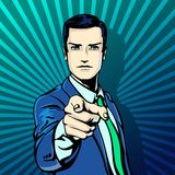 Vector illustration of successful businessman Royalty Free Stock Photo