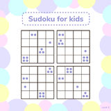 Vector illustration. Sudoku game for kids with pictures. Logic g Stock Images