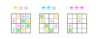 Vector illustration. Sudoku for kids with pictures at different Stock Images