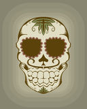 Vector illustration of sugar skull Stock Photography