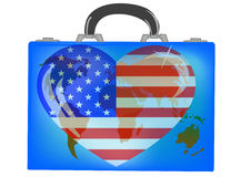 Vector illustration a suitcase Royalty Free Stock Photos