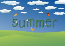 Vector illustration of Summer Royalty Free Stock Photo