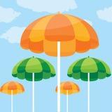 Vector illustration of summer beach umbrella Stock Photos