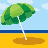 Vector illustration of summer beach umbrella Royalty Free Stock Image