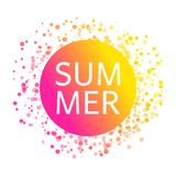 Summer card with celebration confetti pattern vector illustration