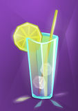 Vector illustration of summer cocktail, lemonade or juice Royalty Free Stock Photo