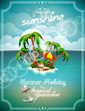 Vector illustration on a summer holiday theme. Stock Image
