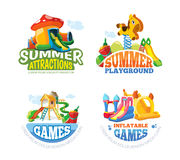 Vector illustration of summer labels Stock Photo