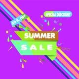 Vector illustration. Summer Sale Banner Design Template. Special Discount 50% OFF stock illustration