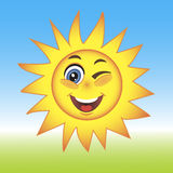 Vector Illustration of a Summer Sun Royalty Free Stock Photography