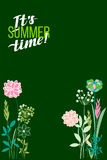 Vector illustration summer themes. The flowers background is. Royalty Free Stock Image