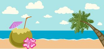 Vector illustration of Summer tropical banner Royalty Free Stock Photography