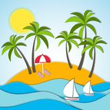 Vector illustration of a summer vacation Stock Photography