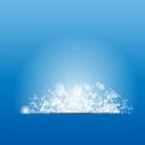 Vector illustration sun on blue background. Royalty Free Stock Photos