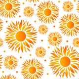 Sun pattern with gradient colors royalty free illustration
