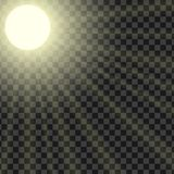 Vector illustration of sun rays with the ability to adjust satur. Ation,  on a transparent background Stock Photo