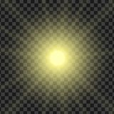 Vector illustration of sun rays with the ability to adjust satur. Ation, isolated on a transparent background Stock Images