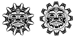 Vector illustration of the sun symbol Royalty Free Stock Photography