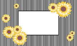 Vector illustration sunflower frame Stock Photo