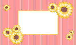 Vector illustration sunflower frame royalty free stock photos