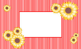 Vector illustration sunflower frame royalty free stock photo