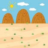 Vector illustration (sunny safari day). Vector illustration (sunny safari day, landscape Royalty Free Stock Images