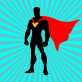 Super hero.Cartoon super hero with red tape. Vector illustration of super hero with red tape isolated on white background Royalty Free Stock Photos