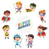 Vector Illustration Of Superheroes stock illustration
