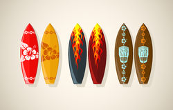 Vector illustration of surf boards Royalty Free Stock Photography