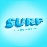 Vector illustration of surf on the wave Stock Photo