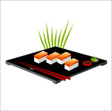 Vector illustration of sushi. With lacks Stock Images