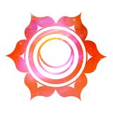 Svadhisthana chakra with outer space. Vector illustration of Svadhisthana chakra with outer space and nebula inside Stock Photography